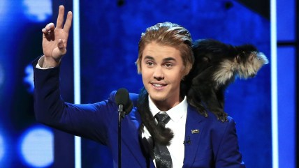 LOS ANGELES, CA - MARCH 14:  Honoree Justin Bieber speaks onstage at The Comedy Central Roast of Justin Bieber at Sony Pictures Studios on March 14, 2...