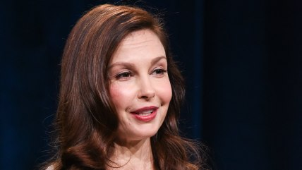 """Ashley Judd speaks on stage during the Independent Lens """"A Path Appears"""" panel at the PBS 2015 Winter TCA on Tuesday, Jan. 20, 2015, in Pasadena, Cali..."""