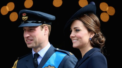 Prince William, Duke of Cambridge and Catherine, Duchess of Cambridge leave St Paul's Cathedral after a Service of Commem...