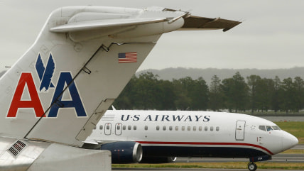 US Airways plane and AA plane
