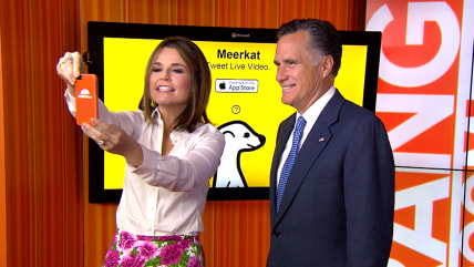 Savannah Guthrie and Mitt Romney take a stab at Meerkat.