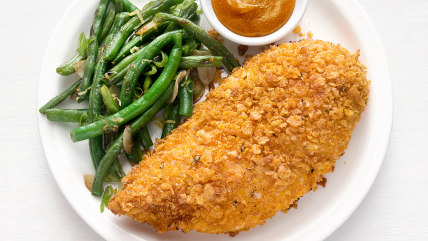 Oven-Fried Chicken with Green Beans