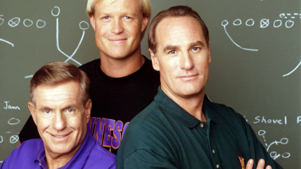 """Jerry Van Dyke, Bill Fagerbakke, Craig T. Nelson in """"Coach."""""""