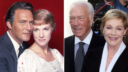 """Christopher Plummer and Julie Andrews in """"The Sound of Music"""" and in 2015."""