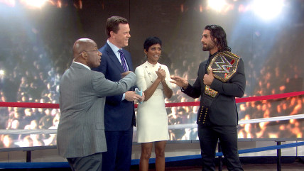 Image: Willie Geist, Tamron Hall, Al Roker with Seth Rollins