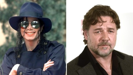 Michael Jackson, Russell Crowe.