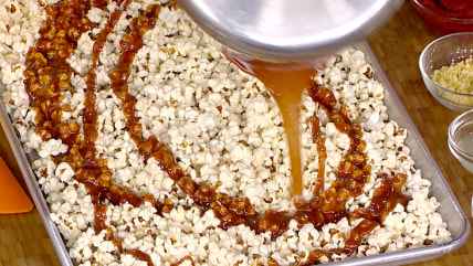 salted caramel popcorn with honey chipotle jerky