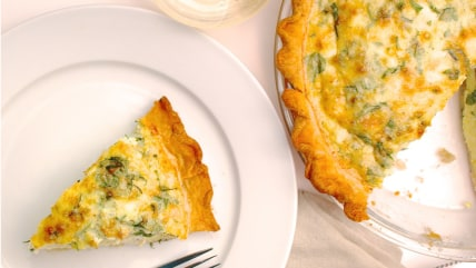 Kale and Three-Cheese Quiche