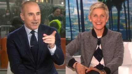 Image: Matt Lauer and Ellen DeGeneres