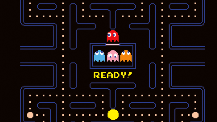 "In this computer screen image released by the Japan Society, a screenshot of the popular 1980 videogame ""Pac-Man,"" is shown. Developed by Namco, the a..."