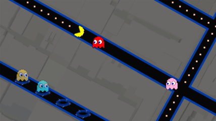 Pac-Man for Google Maps