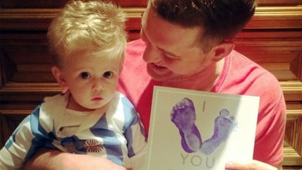 Michael Buble with son