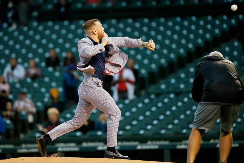 Conor McGregor's Ceremonial First Pitch at Cubs Game is Called the Worst First Pitch Ever
