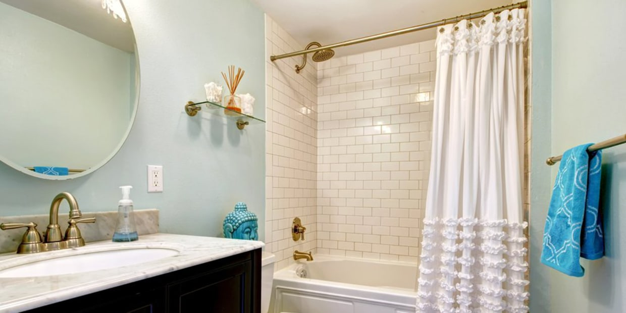 How To Clean Your Shower Curtain And, How To Use 2 Shower Curtains