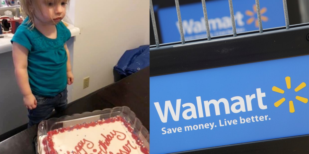 Groovy A Walmart Employee Accidentally Wrote Loser On A 2 Year Olds Funny Birthday Cards Online Necthendildamsfinfo