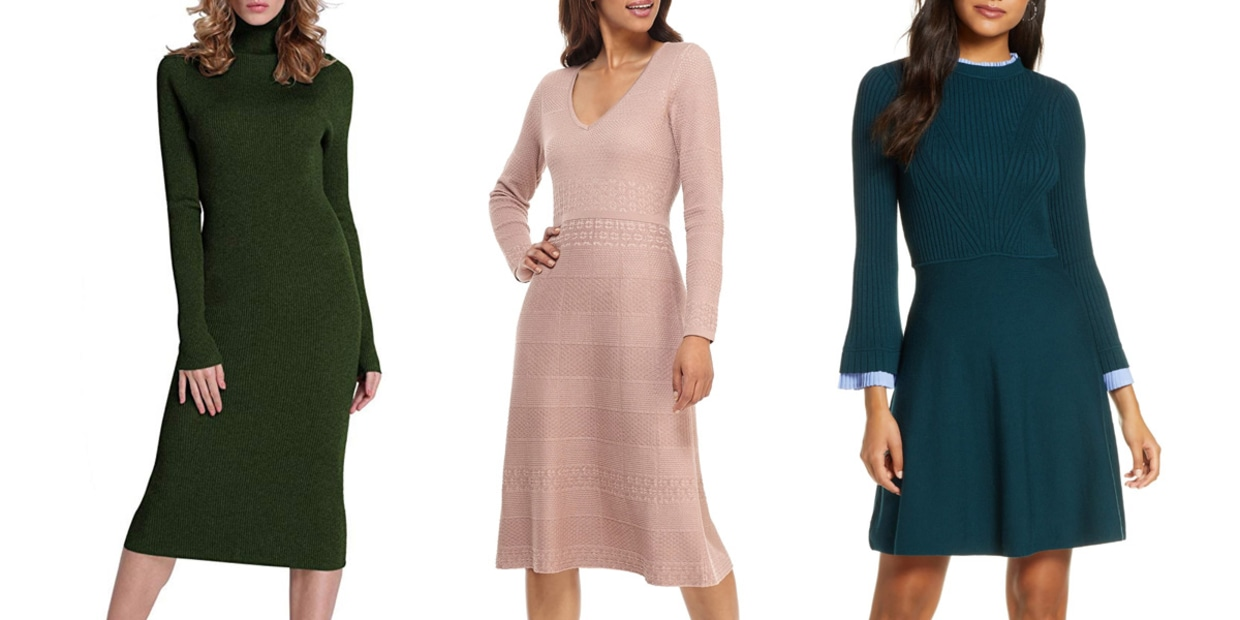 9 stylish — and cozy — sweater dresses that are perfect for work