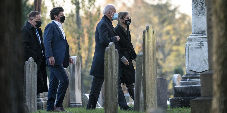 Joe Biden visits son Beau's grave on Election Day