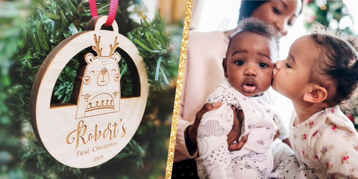 baby girls first Christmas outfit Personalized first Christmas outfit my first Christmas outfit Red and gold first Christmas outfit