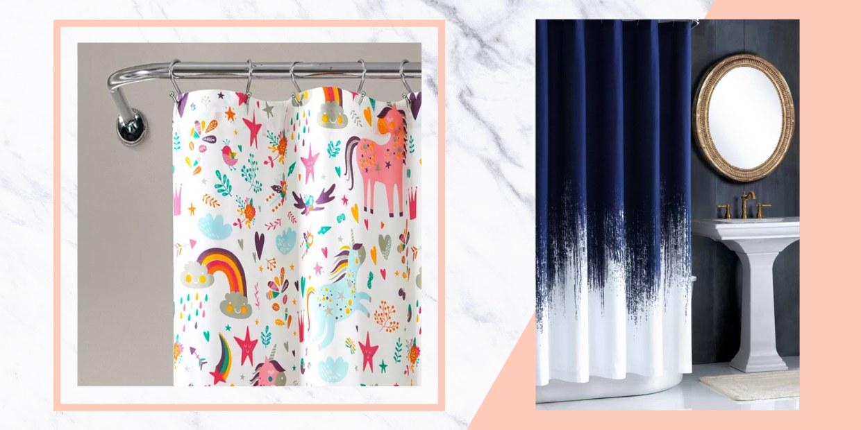 "iDesign Tie Dye Fabric Bathroom Shower Curtain 72/"" x 72/"" Multi-Color"