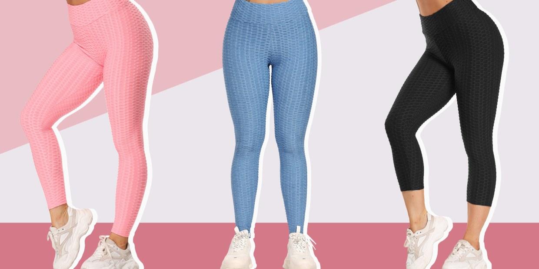 SUGARHIGH TIK Tok Leggings Butt Lifting Anti Cellulite Workout High Waist Leggings