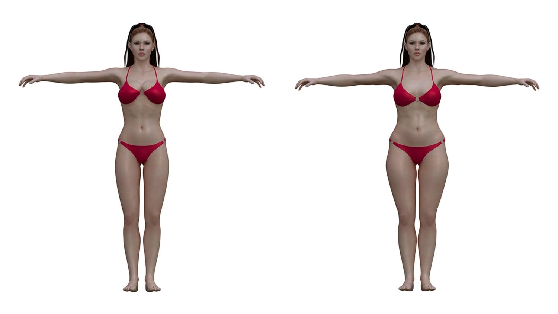 Body shape masculine Wide Hips