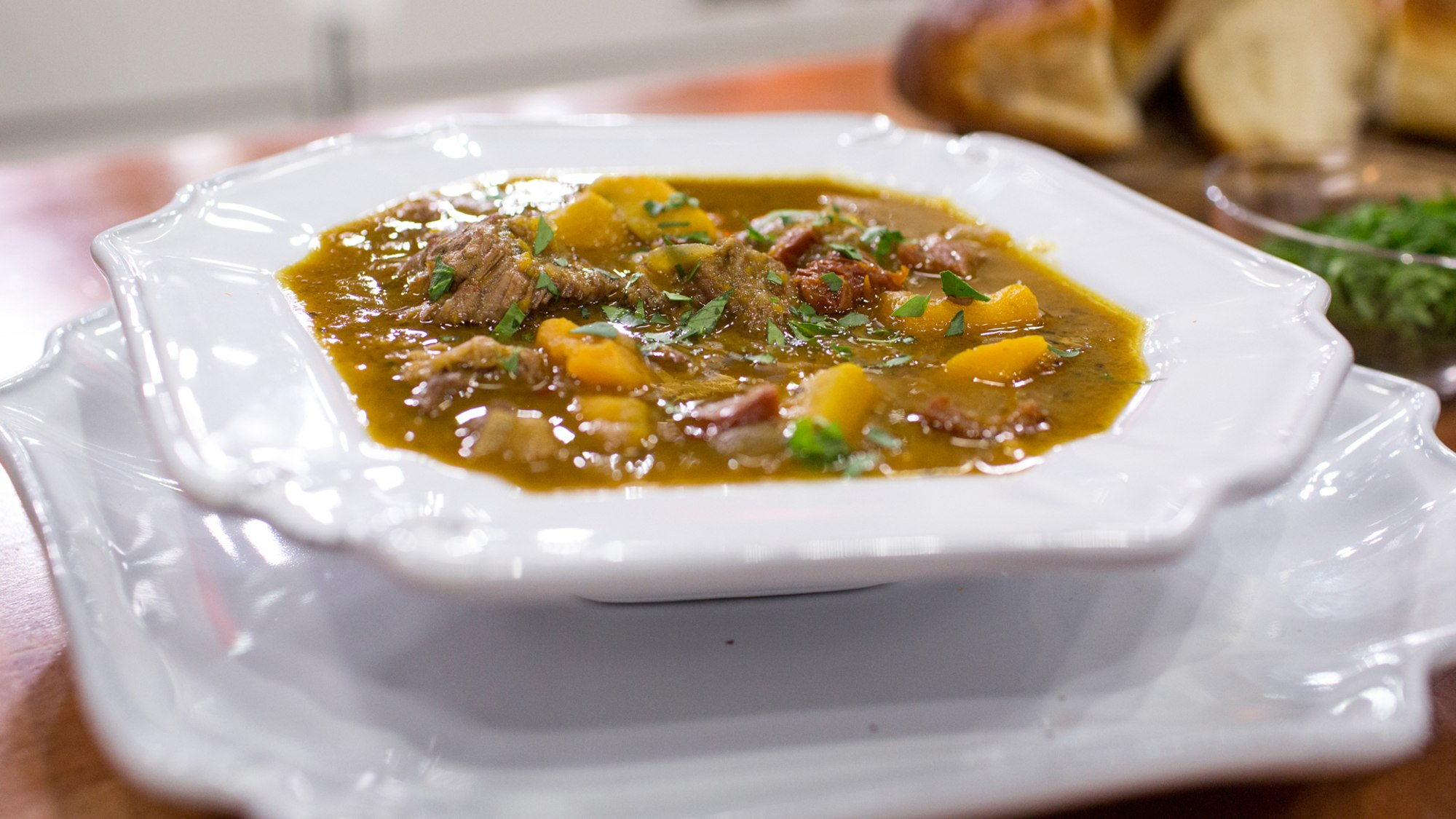 Crockpot Beef & Squash Stew