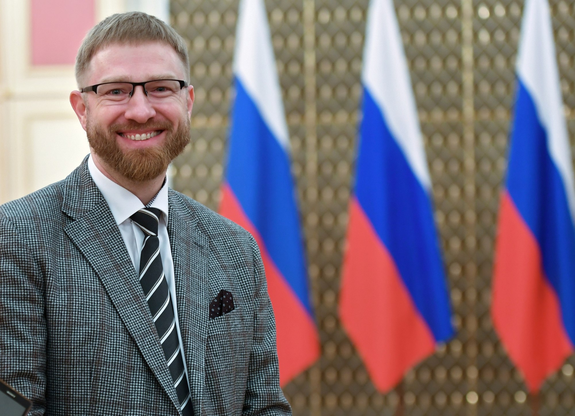 Alexander Malkevich at a ceremony to present Russian government awards in culture at the Russian Government House on March 21.