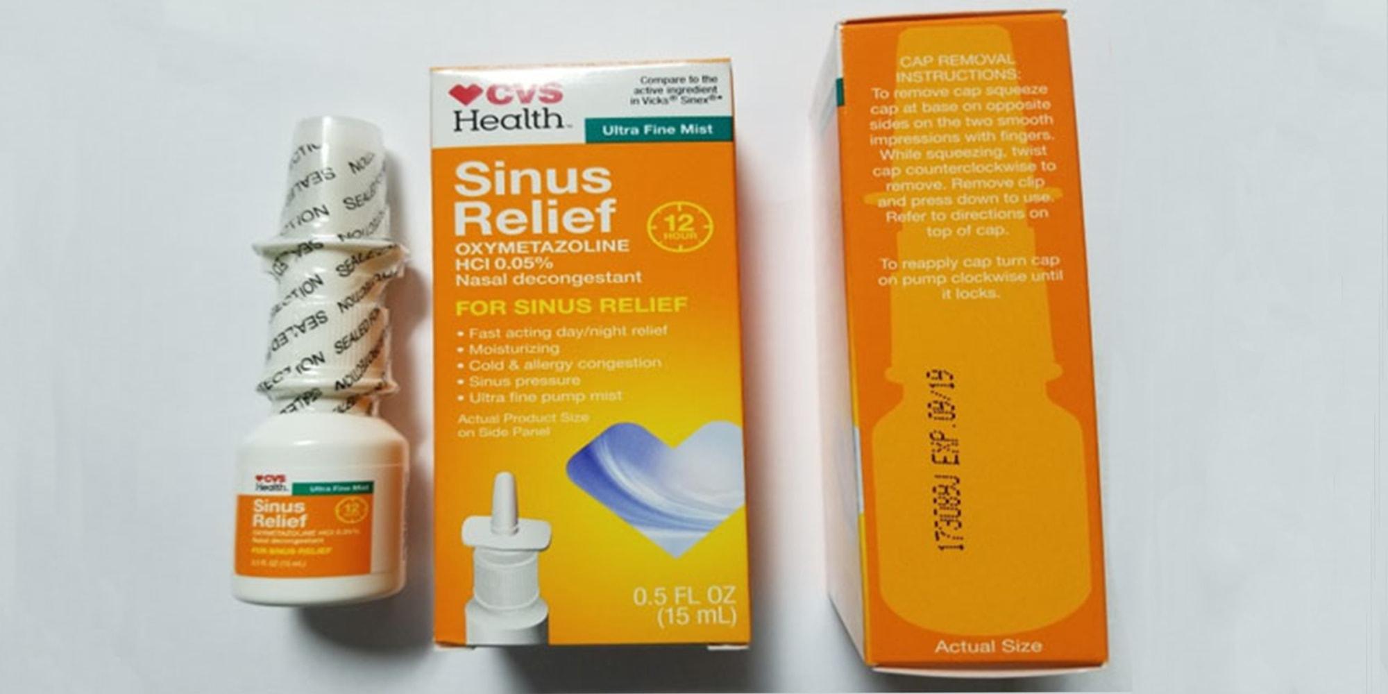 Recall of CVS Health 12 Hour Sinus Relief Nasal Mist