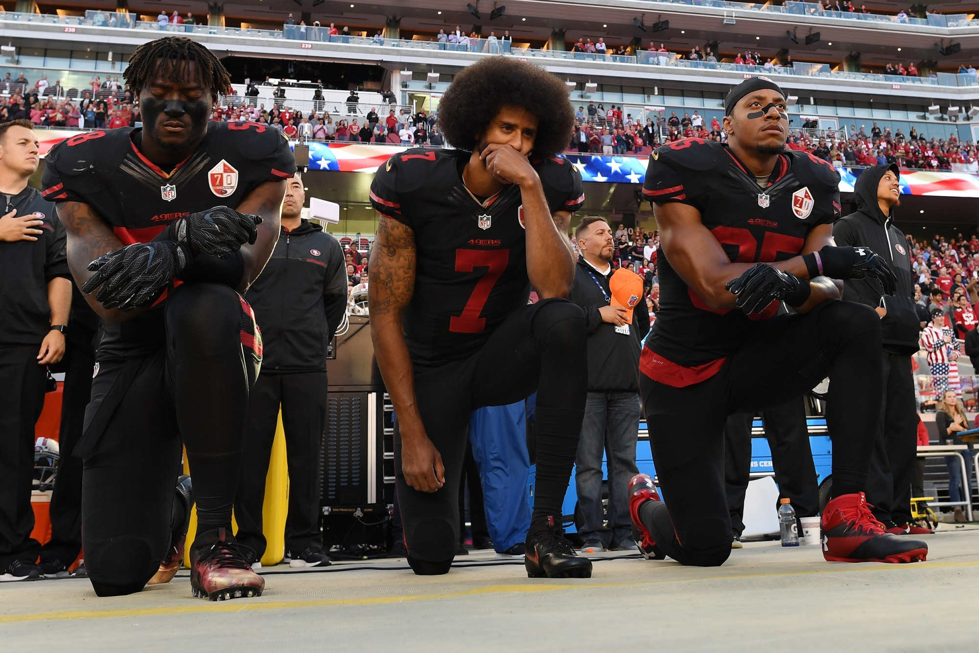 Colin Kaepernick, The National Anthem and America: How Military Service Influenced My Views On Patriotism and Protest 180905-colin-kaepernick-anthem-kneeling-se-558p_188b933a95b3c0bb4f06fd631dde468b.fit-2000w