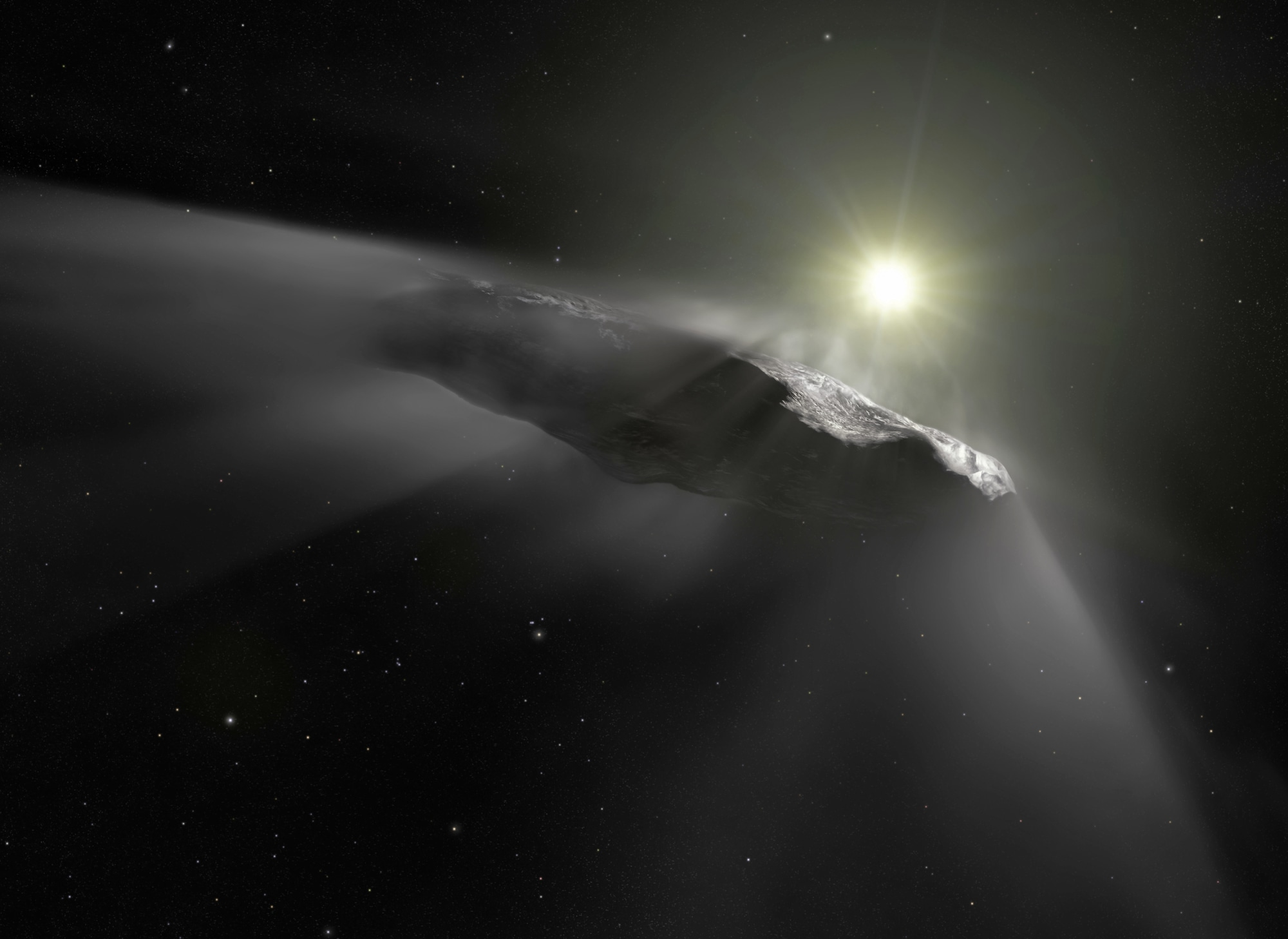 Image of interstellar object, Oumuamua