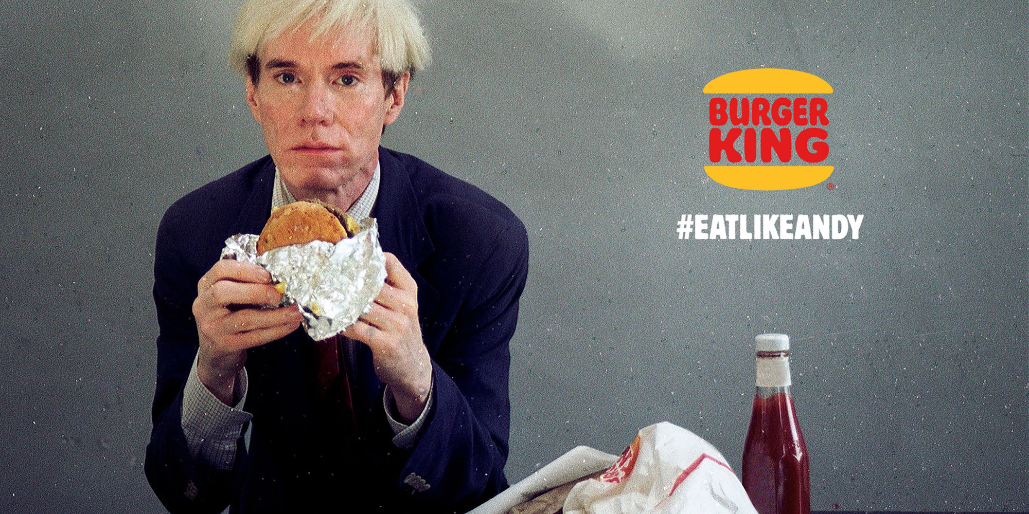 What happened in Burger King's Super Bowl commercial with Andy Warhol?