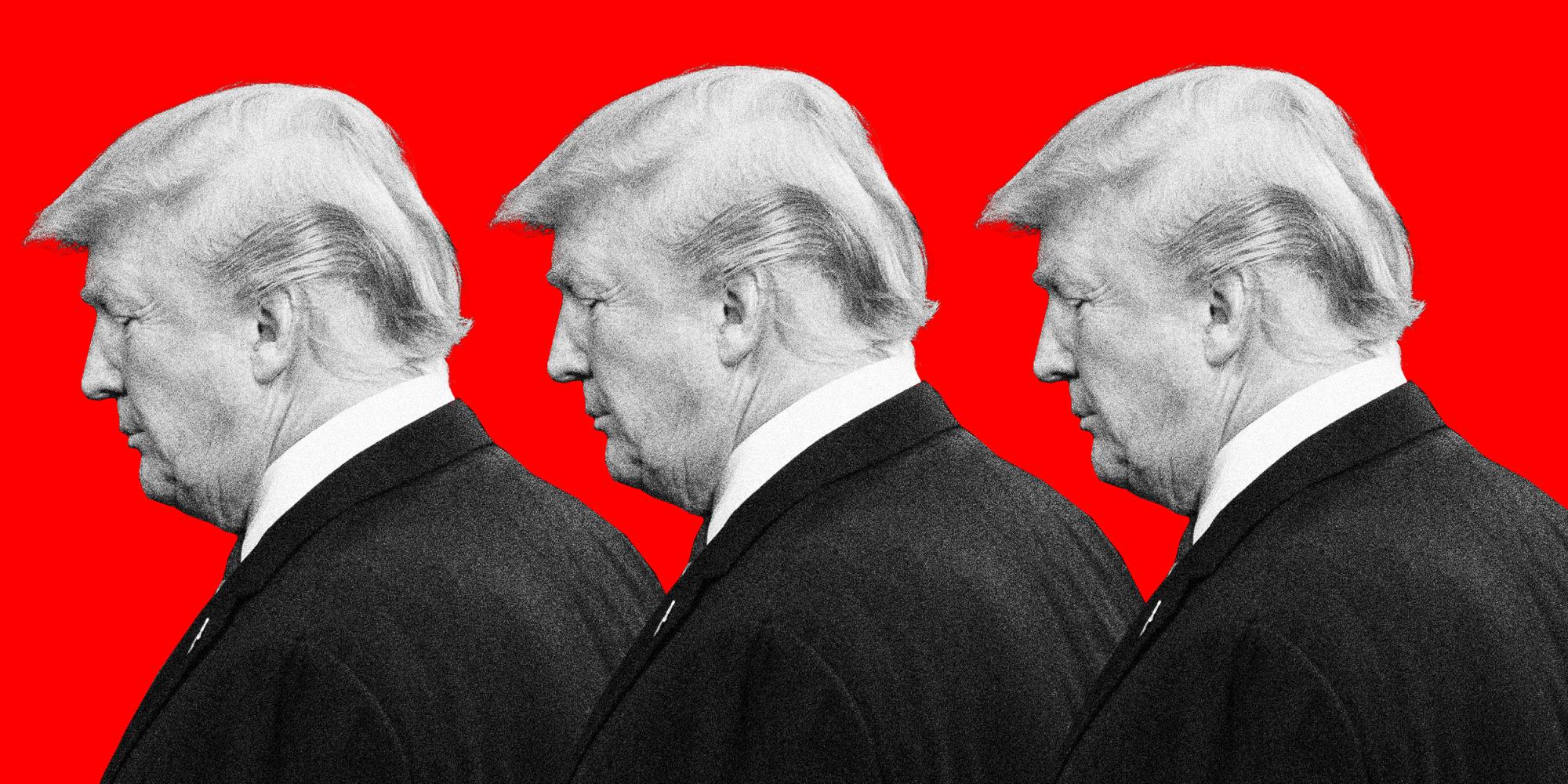 Photo illustration of Donald Trump.