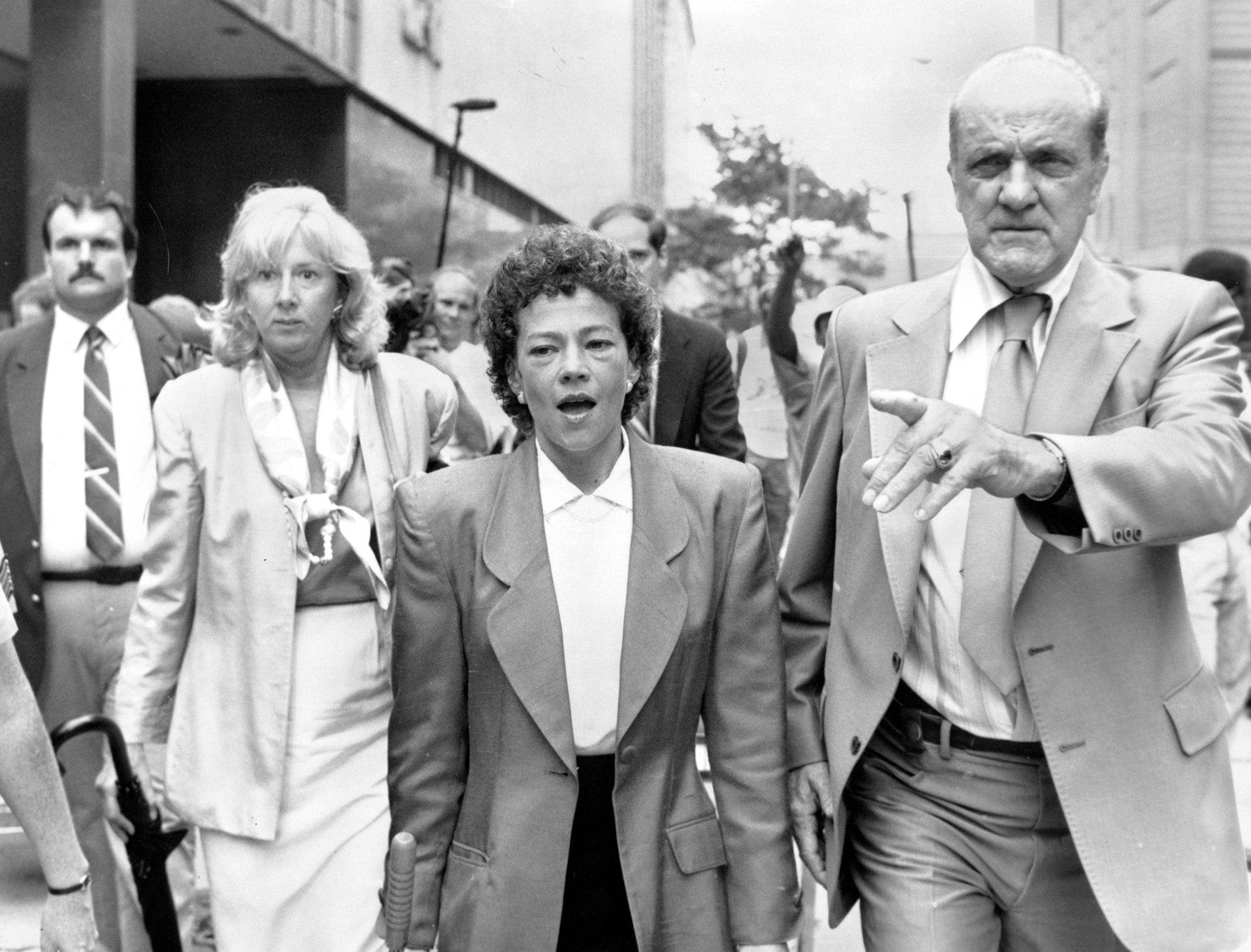 Elizabeth Lederer and Linda Fairstein together during prosecution of Central Park Five.