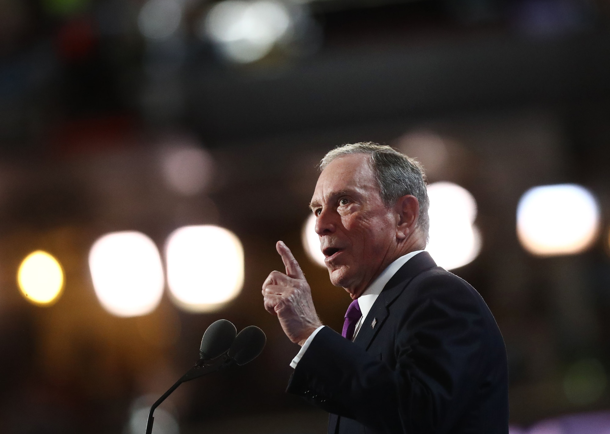 If Michael Bloomberg moves forward with his plans to run for president, his financial information company will be run by an expanded management committee to run the firm in his absence,