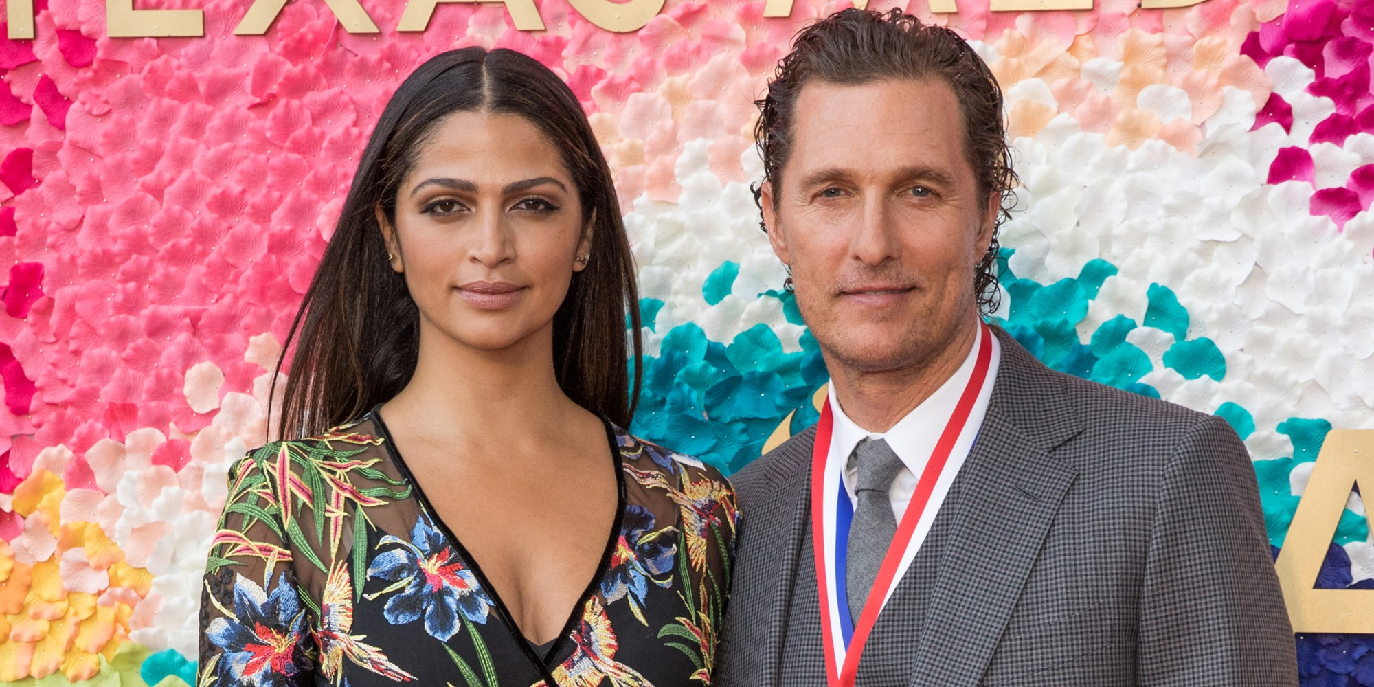 Camila Alves with charming, Husband