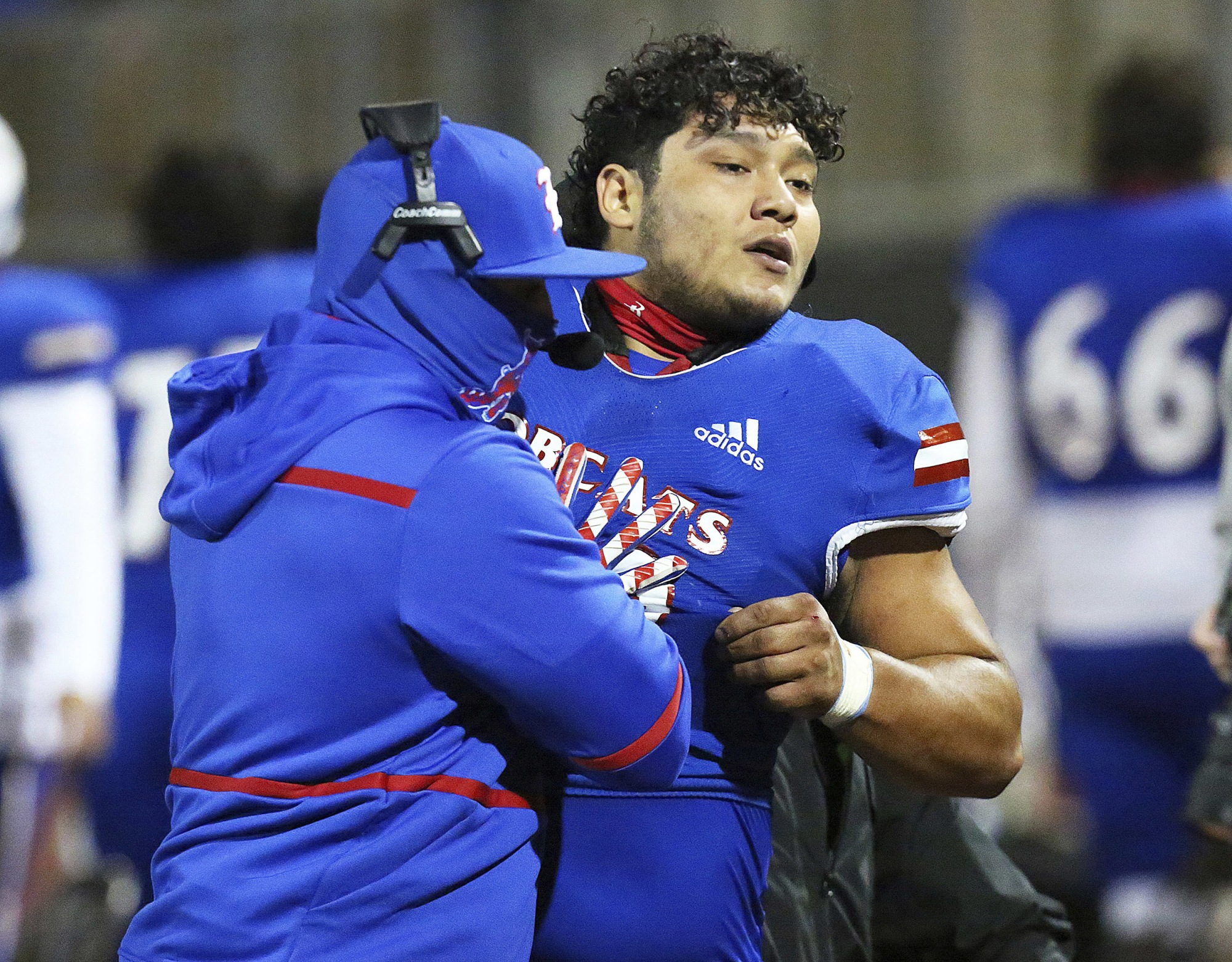 Texas high school football player tackles referee after being escorted from game