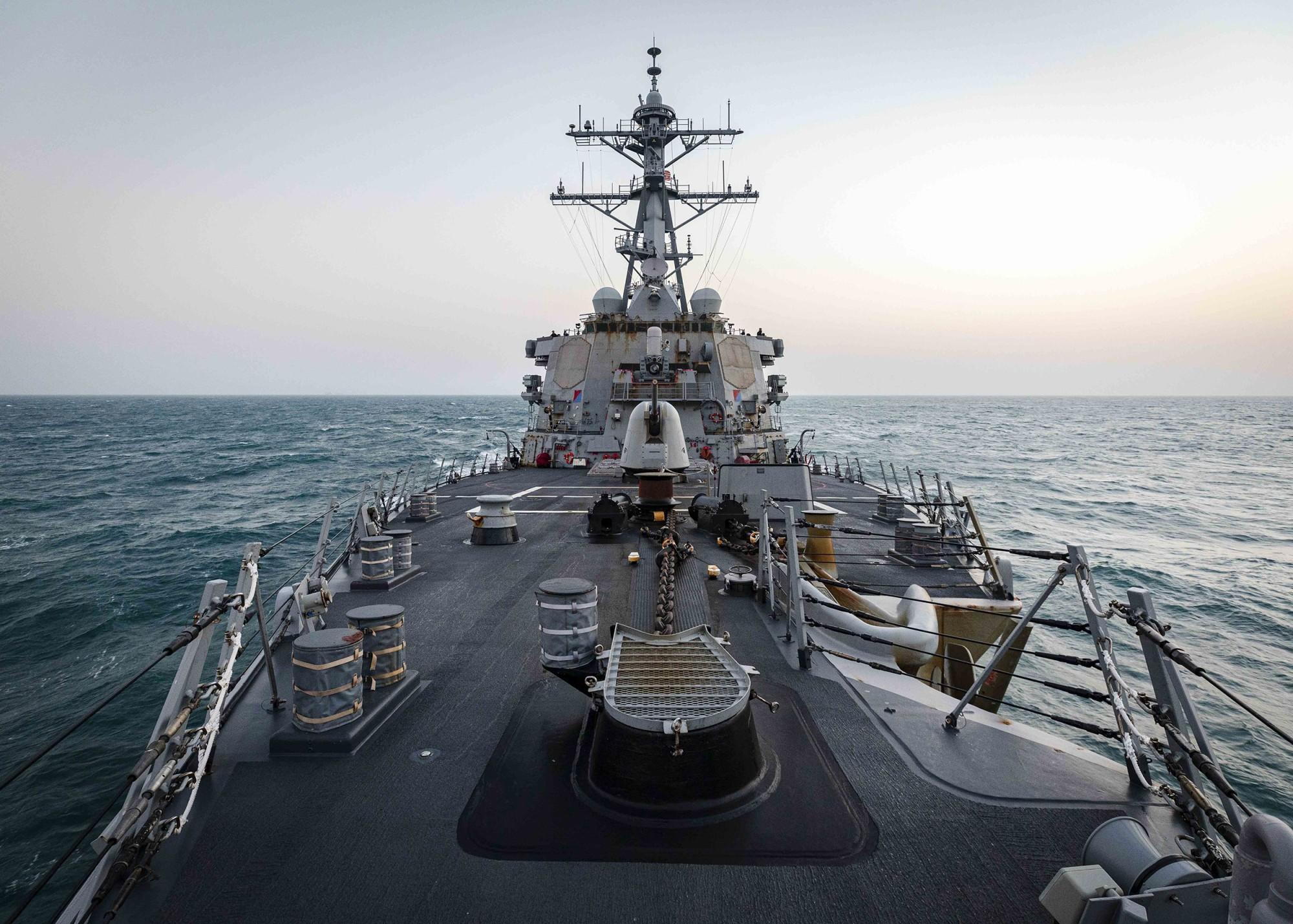 U.S. Navy Warship Sails Through Taiwan Strait for First Time Under Biden
