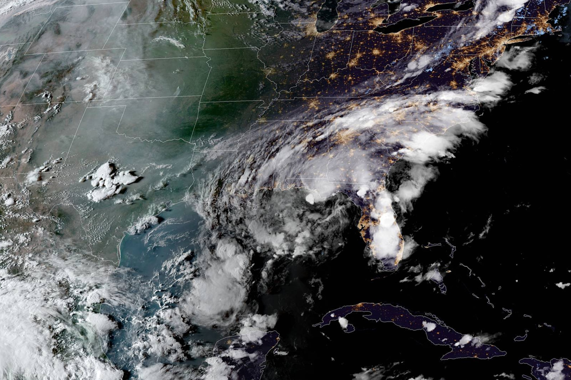 Tropical Storm Mindy Makes Landfall Off Florida Panhandle