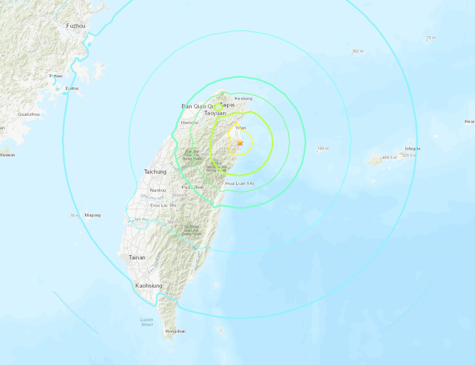6.5 Magnitude Earthquake Strikes Taiwan