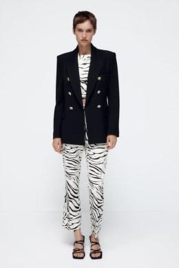 フォーマルウェア・ワンピース(入学式・卒業式用) 小さいサイズ ラメ入変り織スーツ(ジャケット+スカート)(胸当て・サテンリボン付)(蓄熱裏地使用) P3〜P13 ニッセン nissen:7Days Li