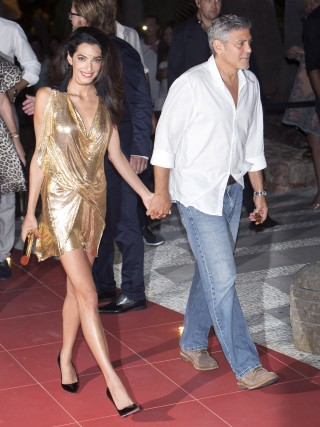 Amal Clooney Stuns In A Sexy Yet Classy Gold Minidress