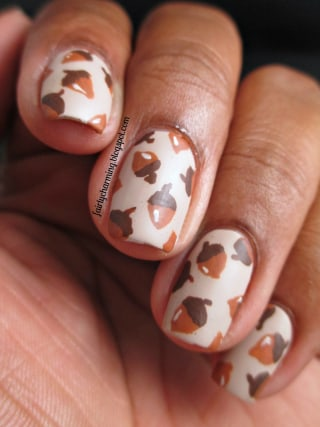 Thanksgiving nail art 13 festive fall manicure tutorials today 11 acorn nail art prinsesfo Image collections