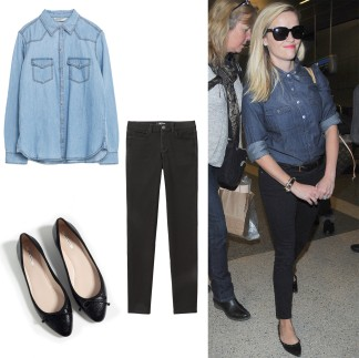 Denim Makes It Easy Take A Cue From Reese Witherspoon And Try Wearing Black Blue In The Same Outfit S As Pairing Your Favorite