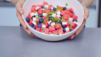 Red, White and Blue Watermelon Salad