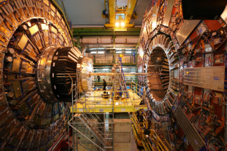 One of the particle detectors in CERN's Large Hadron Collider.