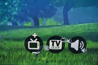 Image: This image shows targets in the corner of a TV screen.