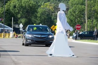Dummies can be used to test pedestrian avoidance technology in automated vehicles.