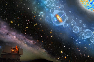 Image: Artist's conceptions of the most-distant supermassive black hole