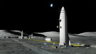 Image: BFR on moon