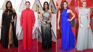 High neck: Taraji P. Henson, Maya Rudolf, Sandra Bullock, Jennifer Garner, Emily Blunt